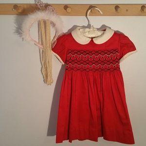 Ralph Lauren Size 12 Months Red Smocked Dress